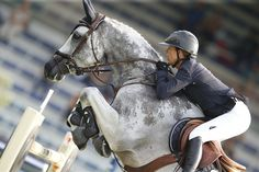 lauren Hough and Cornet 39 ; that horse has such a cool pattern of gray on its…