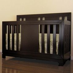 Eden Baby Melody 3 In 1 Convertible Crib In Dark Espresso