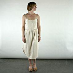 cate dress in bone blush by Ursa Minor - velouria