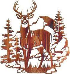 deer wood art - Google Search