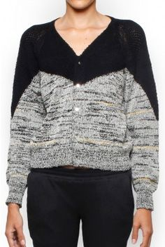 Toga Archives Melange Cardigan - Black/White