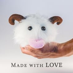 Handmade poro plushie inspired from league of legend (lol) by MyCuteBow