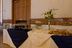 Banquet buffet setup in Provo City Library Ballroom. #wedding, #ballroom, #provolibrary