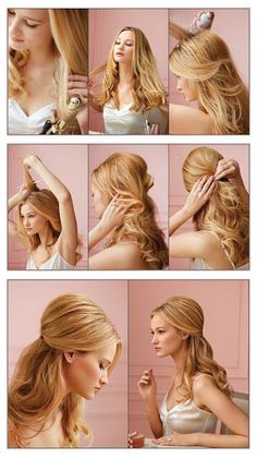Simple Waves for Wedding Hairstyle