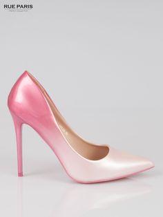 6dd411a5f4646 Różowe szpilki ombre różowy Buty \ Szpilki Butik 165337 Hot Heels, Włosy  Podpalane