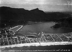 Orla da Lagoa Rodrigo de Freitas (1938). Foto Arquivo Museu Aeroespacial Divulgação