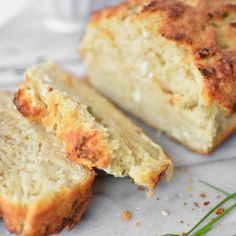 Goat Cheese and Chive Beer Bread @FoodBlogs
