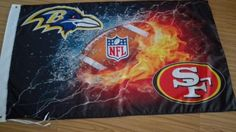 Water VS Frie Baltimore Ravens VS San Francisco 49ers flag 3x5 ft 100D polyester banner with metal Grommets free shipping