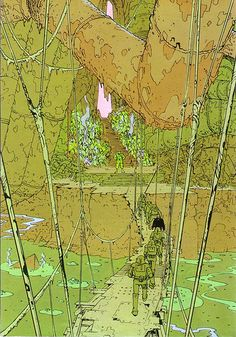 Jean Giraud a. Illustrations, Graphic Illustration, Graphic Art, Graphic Novels, Jean Giraud, Moebius Art, Ligne Claire, Science Fiction, Bd Comics