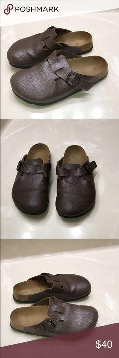 Authentic Birki's by Birkenstock brown sandals 7 Authentic Birki's by Birkenstock brown leather sandals 7 great condition light wear light marks Birkenstock Shoes Sandals