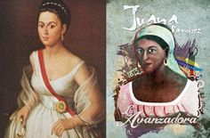 """Younger and older pics. Juana Ramírez (1790–1856) was born a slave in Venezuela and later became a heroine of the Venezuelan War of Independence known as """"Juana La Avanzadora""""."""