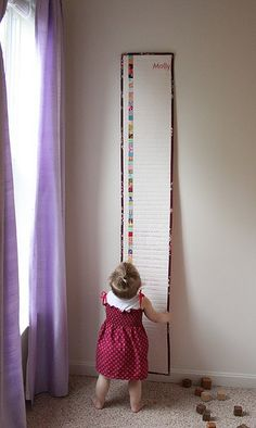 "Beautiful Idea-- quilted height chart. Make the colored squares all 1"" finished :). Lots of other projects."
