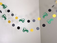 Tractor Birthday Party Decoration Tractor Paper Garland 1st Birthday 2nd Farm…