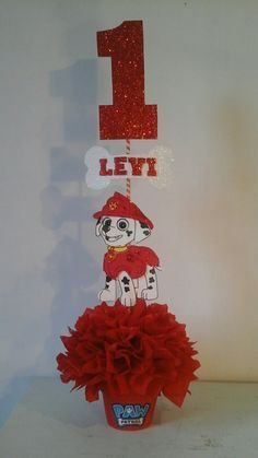 Paw Patrol Centerpieces. #Marshall Paw Patrol Birthday Theme, Paw Patrol Party, Baby 1st Birthday, 4th Birthday Parties, Birthday Ideas, Paw Patrol Tv Show, Paw Patrol Toys, Holidays And Events, Party Time