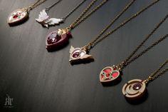 sailor moon inspired pendants.
