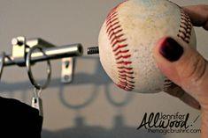 Baseball Curtain Rod Finial | The Magic Brush, inc.