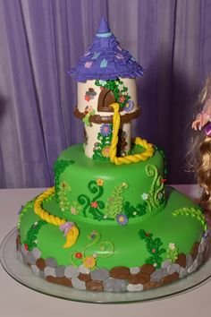 Bolo Rapunzel - Cake Tangled
