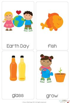A super cute set of Earth Day Vocab cards, great for a writing center this Earth Day! #earthday #busylittlebugs #tptpins