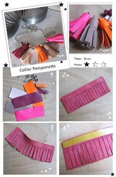 Diy collier pompon