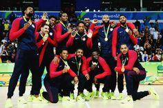 klaythompson: USA Mens Basketball team celebrates with their...