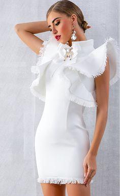 16f4b20238 Women Sexy Sleeveless Lotus Leaf Cocktail Dresses Black White