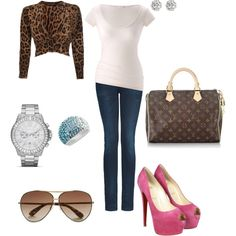 Pulled from my real closet, displayed with the help of Polyvore. Fabulously Easy Wednesday Style, created by #i-heart-glam on #polyvore. #fashion #style American Vintage Dolce&Gabbana