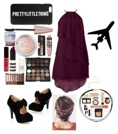 """PrettyLittleThing"" by fluffbunny231 ❤ liked on Polyvore featuring Topshop, Yves Saint Laurent, Maybelline, Anastasia Beverly Hills, NYX, Bare Escentuals, NARS Cosmetics, Estée Lauder, LORAC and Laura Mercier"