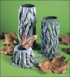 Tree Sculptures - Twisted tree trunks, such as the one featured here, make an excellent starting point for collage work and soft sculpture. Look for the pattern and movement within the trunk. See how the lines flow and entwine, disappear and emerge. Tree Sculpture, Soft Sculpture, Sculptures, Primary Classroom Displays, Twisted Tree, Tree Trunks, Home Learning, Display Ideas, Art Lessons