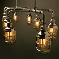 Pipe chandelier- 3dfirstaid visual architecture                                                                                                                                                     More