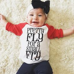 Pretty fly for a small fry  baby & toddler tee