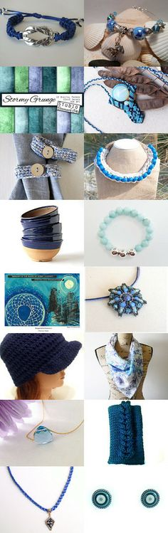 Beautiful Blues by Peggy Kirsch on Etsy--Pinned with TreasuryPin.com