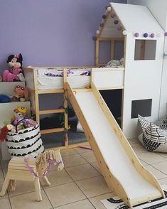 IKEA KURA house bed with slide www limmaland com Ikea Bedroom, Kids Bedroom Furniture, Baby Furniture, Bedroom Sets, Bedroom Decor, Furniture Stores, Furniture Market, Rustic Furniture, Furniture Companies