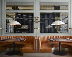 The contemporary interior of Proxi in Chicago features subtle industrial details. Photograph by David Burke.