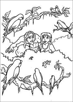 tarzan romantic tarzancoloring pagestemplatesromanticcoloringdrawings tarzan romantic