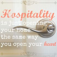 "{Romans 12:13} ""Share with the Lord's people who are in need. Practice Hospitality."""