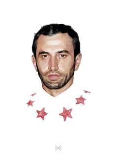 Riccardo Tisci by Ignasi Monreal  Illustration.Files: Fashion Designer Portraits by Ignasi Monreal