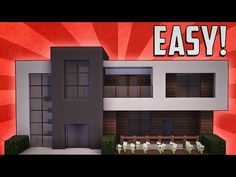 Minecraft: How To Build A Small Modern House Tutorial (#13) - YouTube