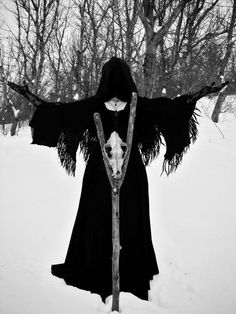 Occult winter #Gothic #Winter #Pagan #Photo #BlackandWhite
