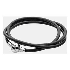 PANDORA Leather Wrap Charm Bracelet (75 AUD) ❤ liked on Polyvore featuring jewelry, bracelets, accessories, pandora, handcrafted jewelry, leather jewelry, handcrafted jewellery, wrap jewelry and pandora jewellery