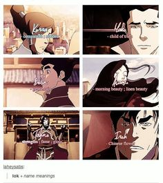 Name meanings in Legend of Korra
