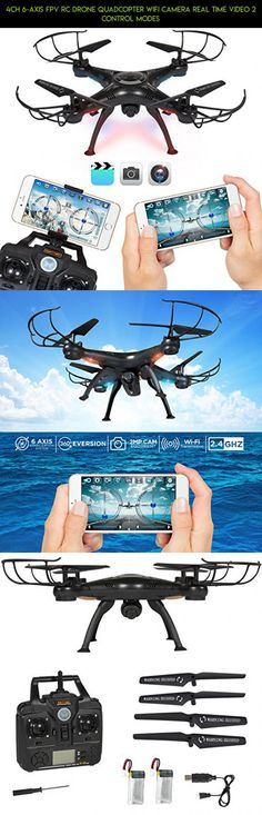 4CH 6-Axis FPV RC Drone Quadcopter Wifi Camera Real Time Video 2 Control Modes #technology #drone #products #fpv #shopping #drone #parrot #gadgets #4k #plans #parts #camera #racing #tech #kit