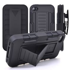 For IPhone 5S Case 6s 6 Plus 3 in 1 Heavy Duty Plastic case Fundas For iPhone 5 s soft TPU Phone Cover Shock Proof Belt Clip Bag