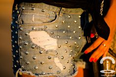 Crimenes de la Moda: DIY studded shorts