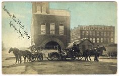 Laramie Historic Photos ( Laramie Fire Department, corner of 3rd and Custer, approx. 1911. After fires in 1871 and a fire at the Territorial Prison in 1872, the Laramie Fire Department was formally organized in August of 1875 with the initial firehouse located at what is now the corner of 3rd and Custer. The three story building in the background is the Holladay Building which burned in 1948. )