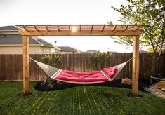 Would love a hammock with a trellis like this!