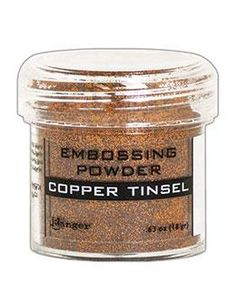NEW! Embossing Powder Copper Tinsel