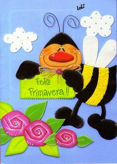 Manualidades paso a paso en Goma Eva - Revistas de manualidades Gratis Ladybug Art, Fig, Tweety, Diy And Crafts, Minnie Mouse, Clip Art, Halloween, Disney Characters, Floral
