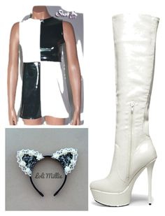 """""""Ariana Grande """"Problem"""""""" by bewareofpaige ❤ liked on Polyvore featuring Steve Madden"""