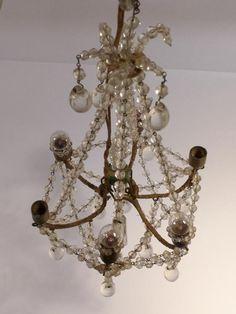 ! MAGNIFIK KRISTALLKRONA tidigt 1900-tal höjd ca 25 cm ! på Tradera.com