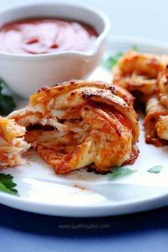 """Four Cheese Pepperoni Pizza Knots.Bake in the oven for minutes or until the knots are puffy, golden, crispy and oozing cheese."""" from Lauren's Latest Pizza Recipes, Cooking Recipes, What's Cooking, Quick Recipes, Amazing Recipes, Yummy Recipes, Dinner Recipes, Good Pizza, Pizza Pizza"""